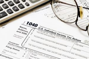Paperwork for tax preparation services in Annapolis, MD